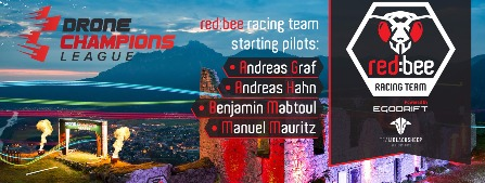 redbee racing startet bei den Drone Champions League in D/A/CH